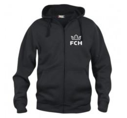 Hættetrøje - FCH m. lynlås