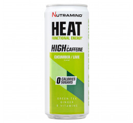 Nutramino HEAT Cucumber Lime, Low caffeine, 330 ml